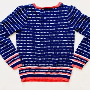 Gymboree Shirts & Tops - Gymboree Chain Link Navy & Red Sweater